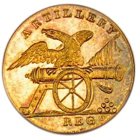 U.S. Artillery Regiment, c.1808-1811, 23mm, (gilded brass)