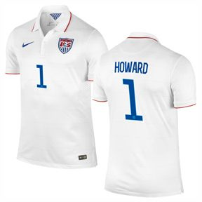 Nike USA Howard #1 World Cup 2014 Soccer Jersey (Home)