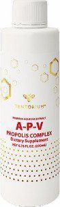 "A-P-V (aqueous propolis extract) Natural multipurpose product 100 ml ""A-P-V"" (aqueous propolis extract) – basic ""Tentorium"" product intended for both: internal and external use. It has exceptional antimicrobial properties of propolis. The balm is especially valuable as a means for supporting your immune system during seasonal viral activity."