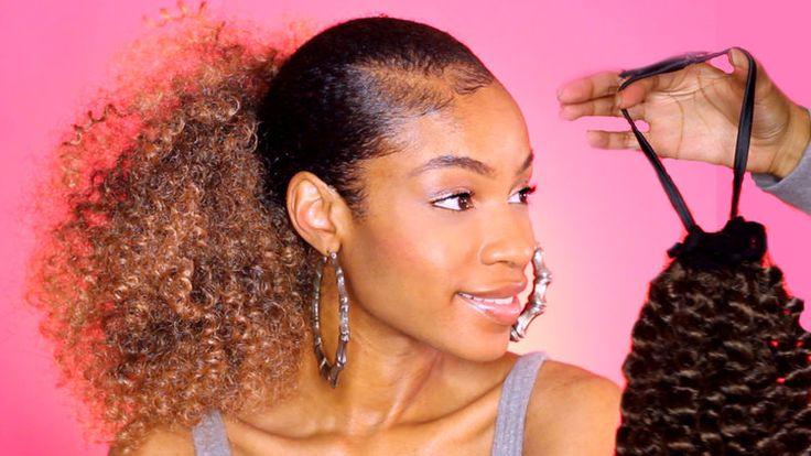 $10 DIY Drawstring Ponytail for Natural Hair
