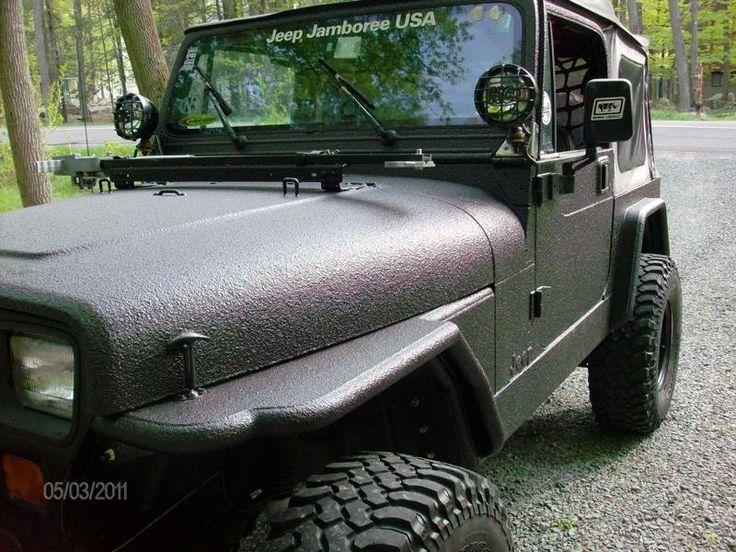 Rhino Lined Jeep