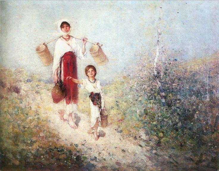 Ţărancă cu doniţă şi copil - Nicolae Grigorescu