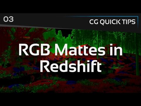 RGB Mattes in Redshift - CG Quick Tips #3 - YouTube