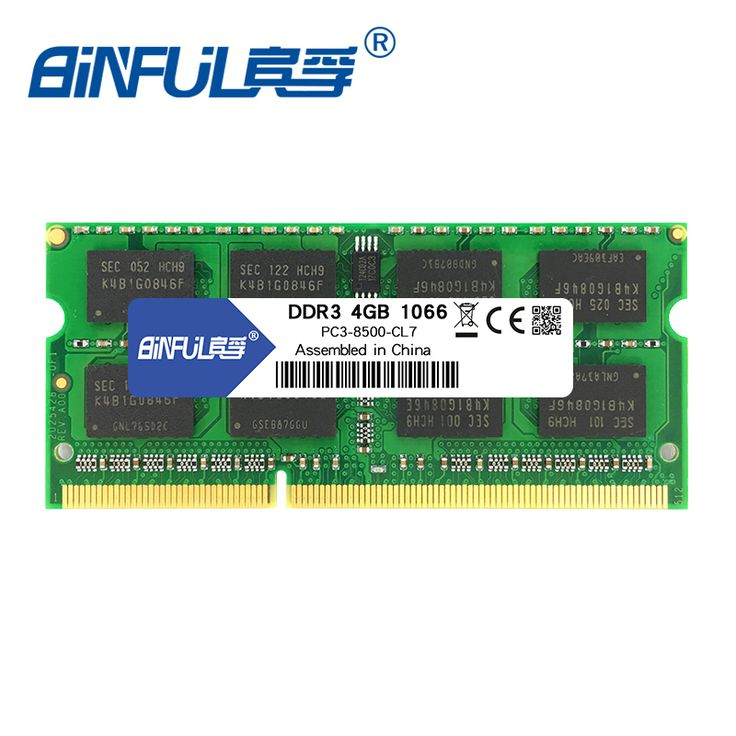 Binful Ddr3 2Gb 4Gb 1066Mhz Pc3-8500 For Laptop Memoria Ram Notebook Memory Sodimm 1.5V
