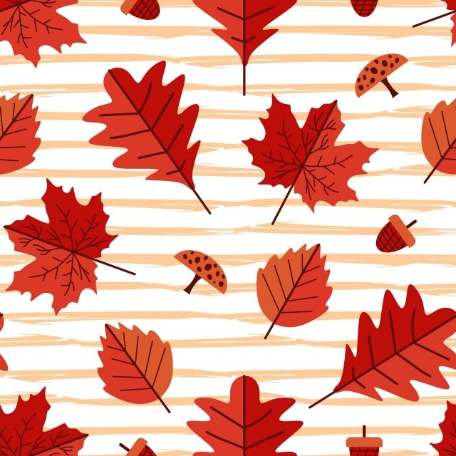 Seamless Pattern Of Autumn Floral Multicolor   Fall patterns ...