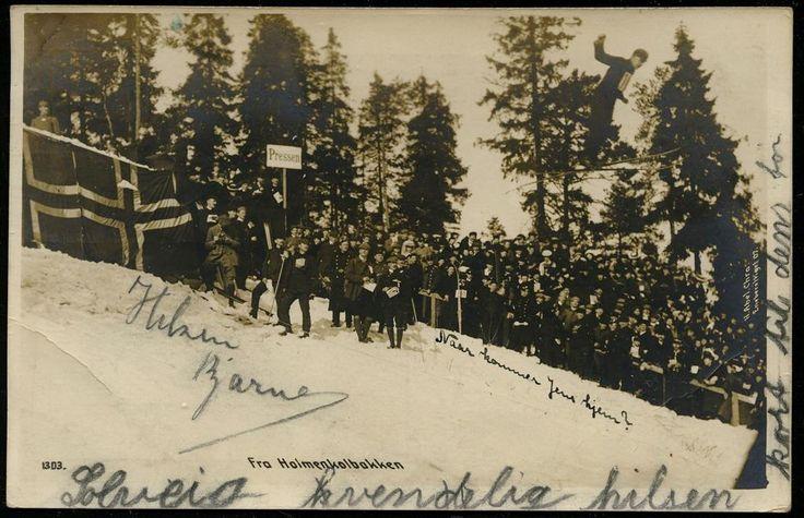 Christiania Kristiania Holmenkollbakken Hopprenn Utg Abels forlag 1907