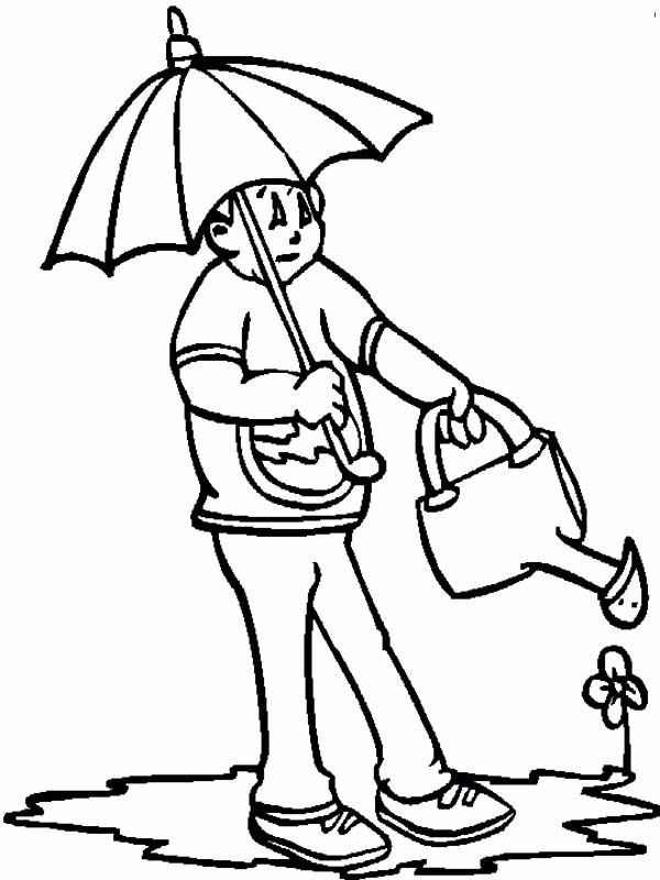 Watering Can Coloring Page Fresh Watering The Flower On Springtime Coloring Page Download Coloring Pages Spring Coloring Pages Online Coloring Pages