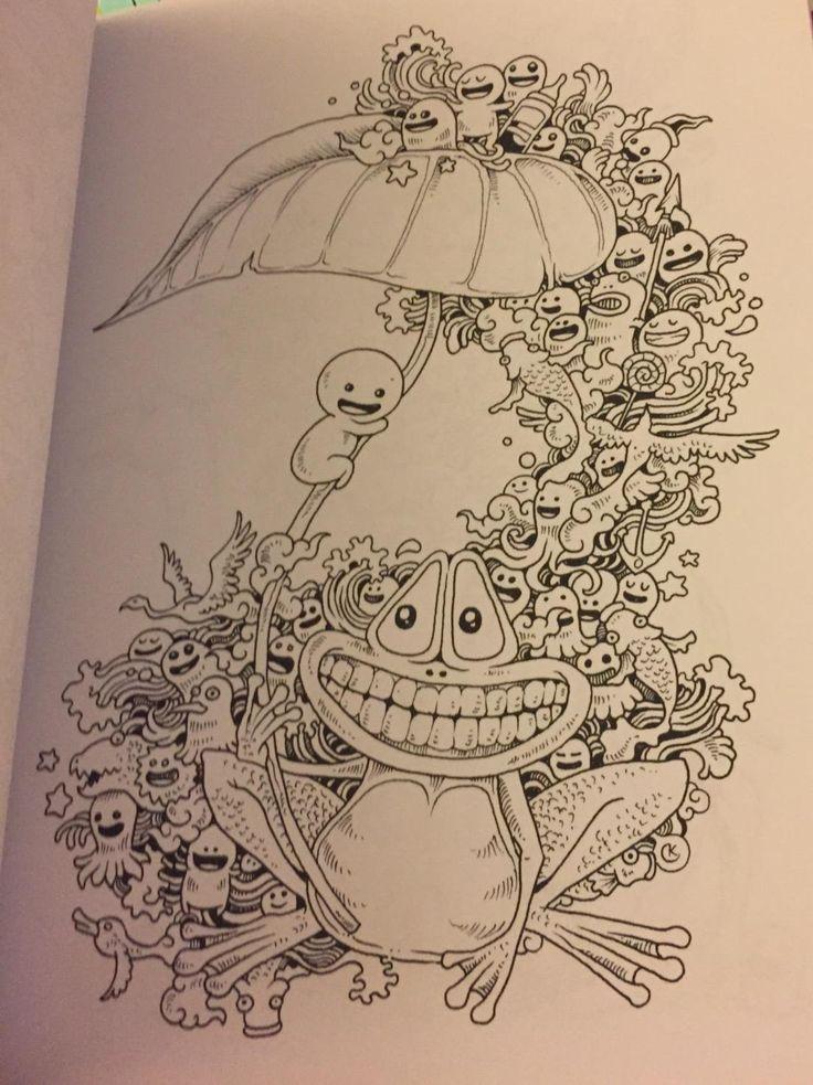 Amazon Danielles Review Of Doodle Invasion Zifflins Coloring Book