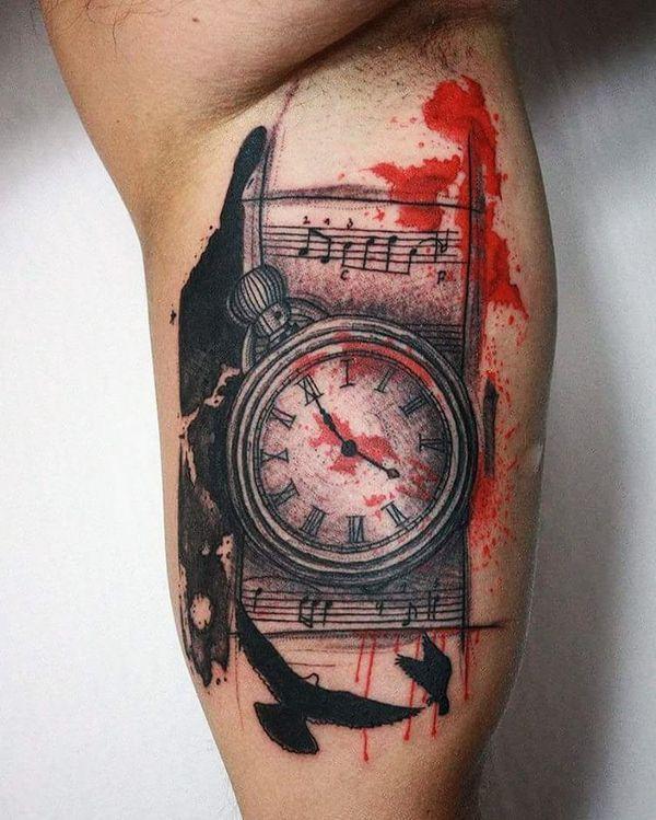 Trash Polka Tattoos Ideen In Schwarzen Und Roten Farben Be Tattoos