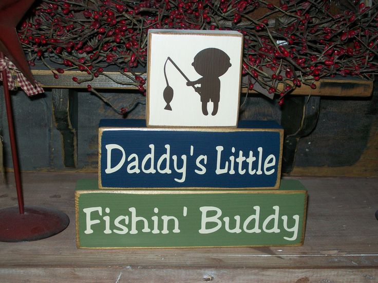 New Boys Daddys Little Fishing Buddy Primitive by BusyMamasPlace, $22.99