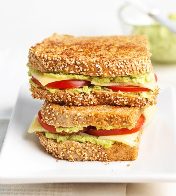 { Tomato-Edamame Grilled Cheese }
