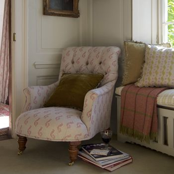 We can upholster your British made Armchair in any number of our stunning upholstery fabrics...