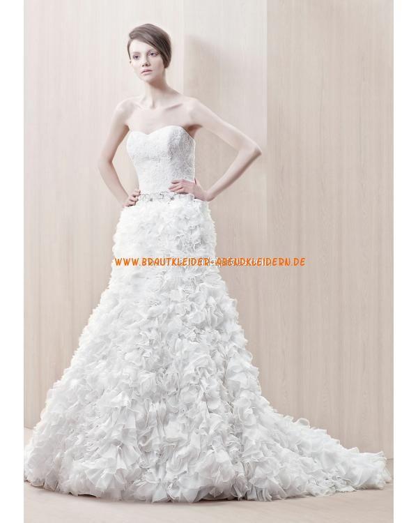 Extravagante Brautkleider aus Organza A-Linie mit Kristall online 2013 ...
