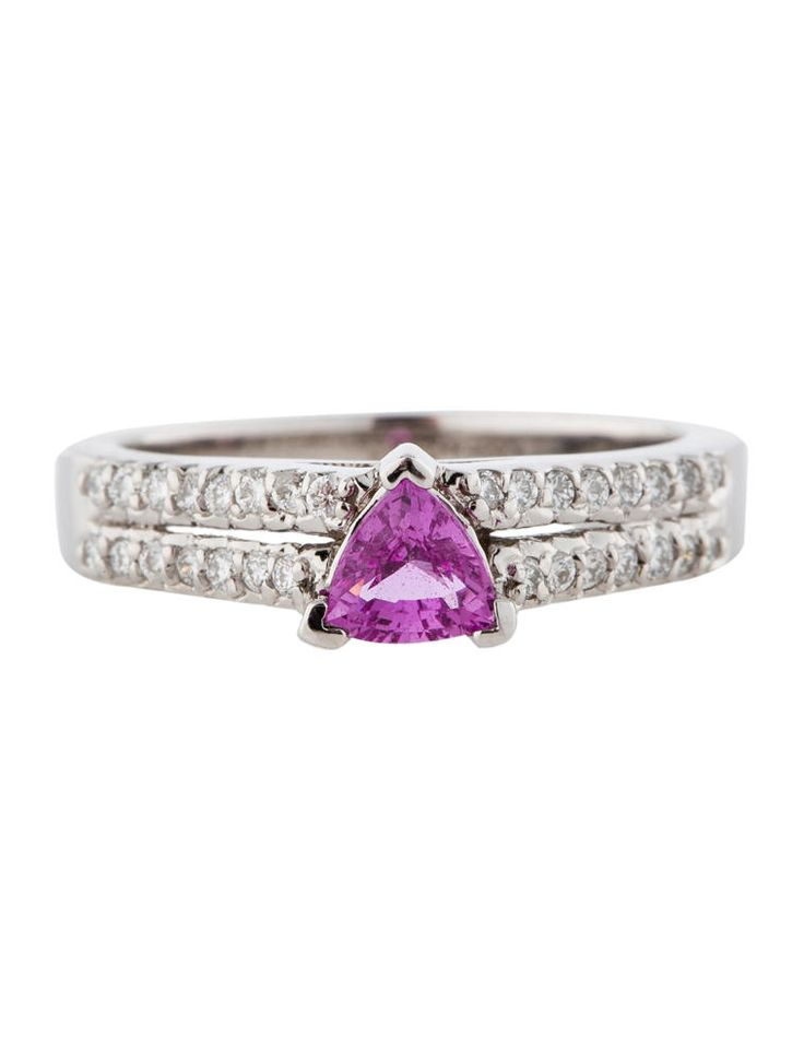 Pink Sapphire and Diamond Ring - Fine Jewelry - FJR21240 | The RealReal