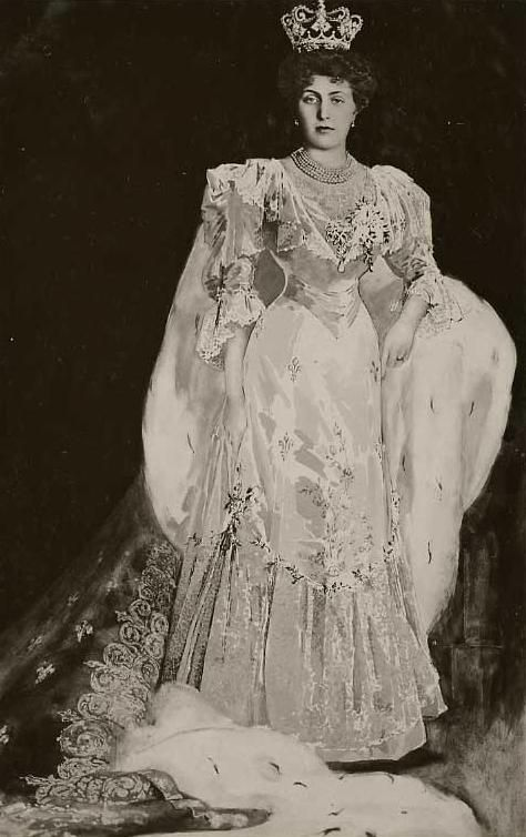 Princess Victoria Eugenie of Battenberg/Queen Victoria Eugenia of Spain. Daughter of queen victoria's daughter  Beatrice.  Princess Ena (as she was called growing up)