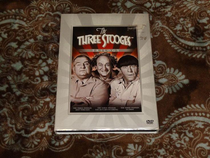 The Three Stooges Trilogy (DVD, 2008, 3-Disc Set) OOP Outlaws/Hercules/In Orbit!