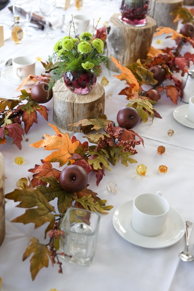 1000 ideas about orange wedding centerpieces on pinterest for Idee deco table automne