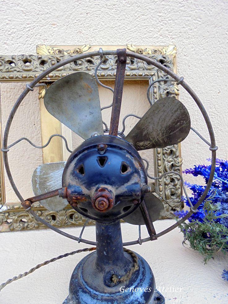 Antiguo ventilador Principios siglo XX 5 Genoves Atelier