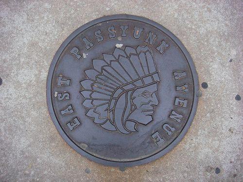 East Passyunk Avenue, Philadelphia, USA  manhole cover.