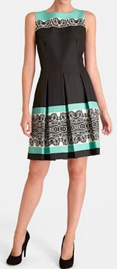 Pretty dress with #mint band detail http://rstyle.me/n/hayv5nyg6