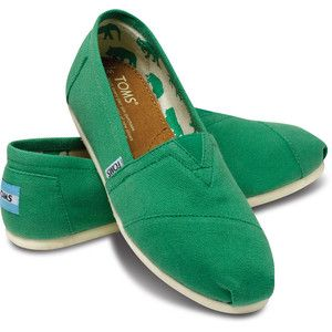TOMS Green Apple Canvas Classics Women Size 5