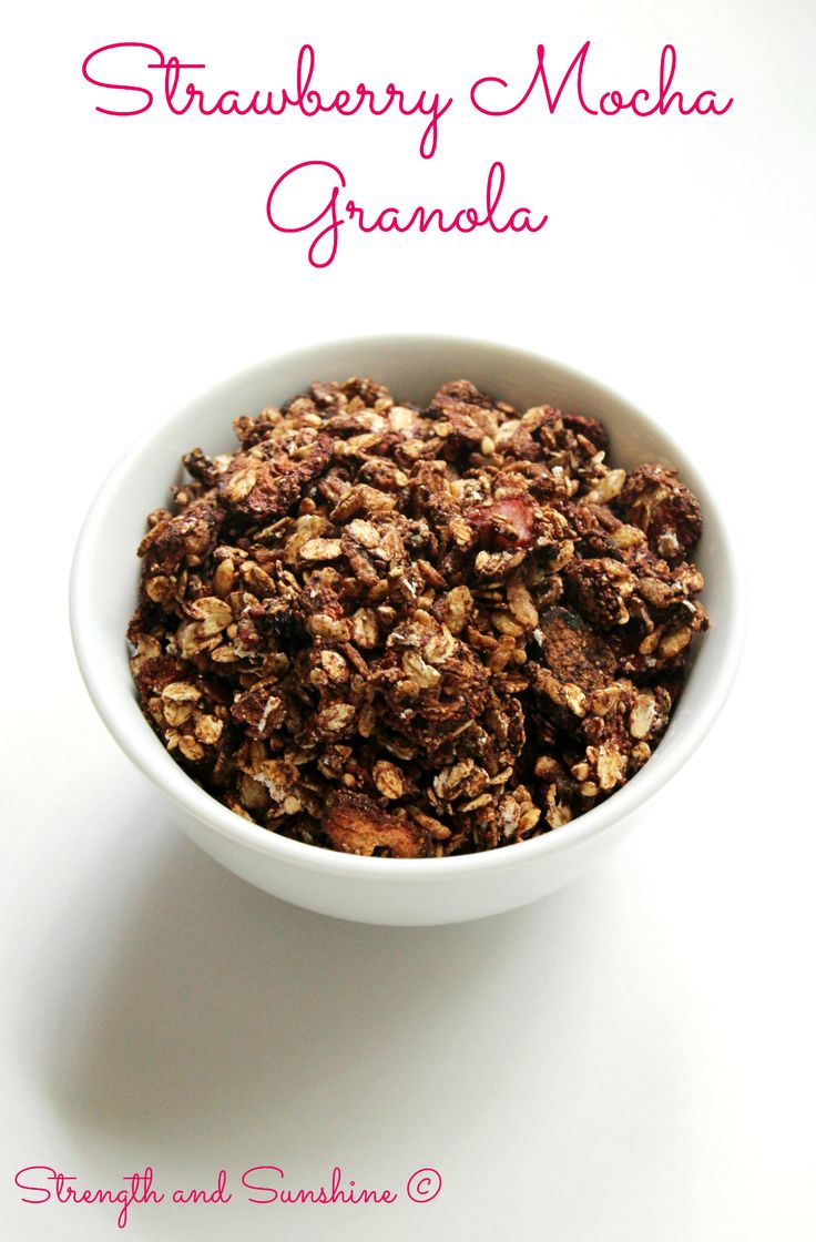 Whether for breakfast or as a snack, this gluten-free, vegan, and refined sugar-free granola will have your taste buds singing! A decadent combination of strawberry, coffee, and chocolate, this Str...