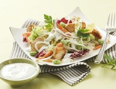 Fitness-Salat mit Putenstreifen und Sojasprossen Rezept