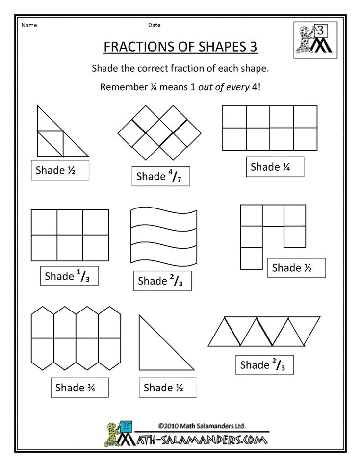 fraction shape worksheets fractions worksheets. Black Bedroom Furniture Sets. Home Design Ideas