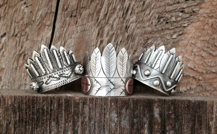 Headdress rings by Silo Silver. Find me on Facebook!
