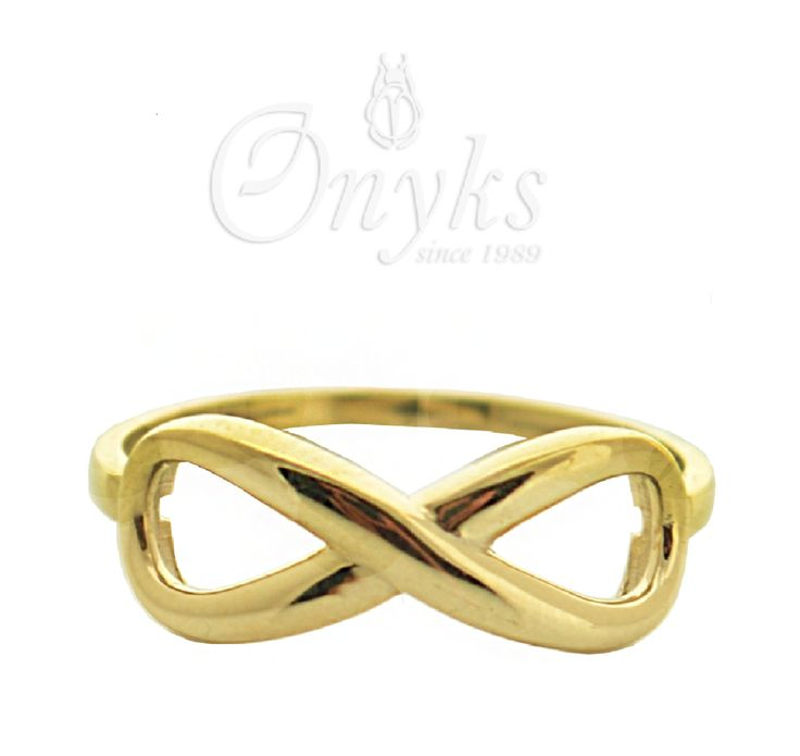 Gold Infinity Ring by MyOnyks on Etsy
