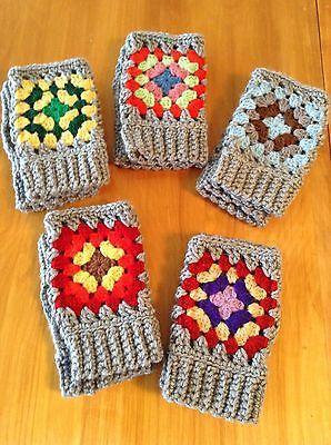 Details about Fingerless Gloves Winter Long Knitted Crochet Mittens Elbow Arm Warmer Half New