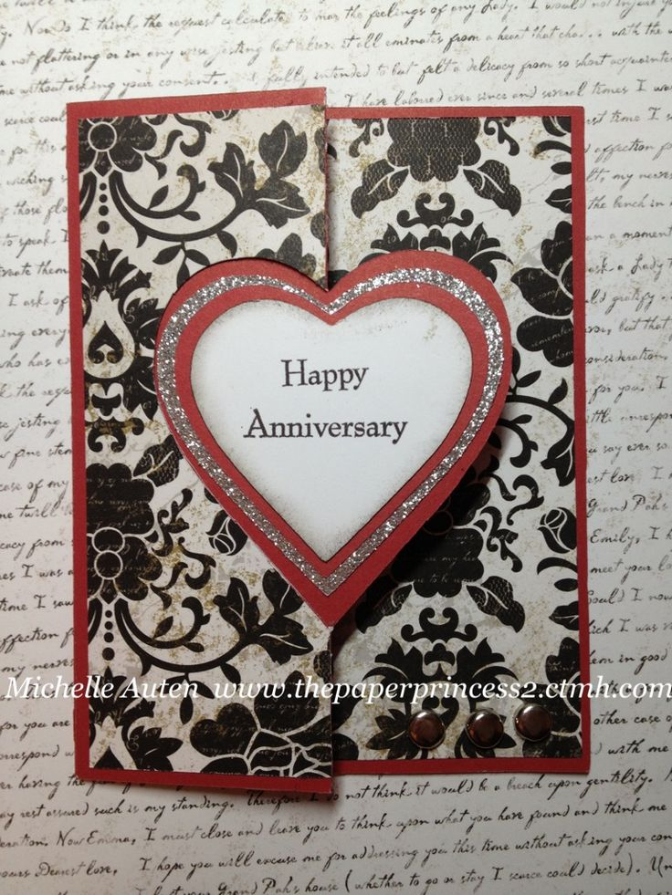 Anniversary card using Cricut Artiste cartridge.