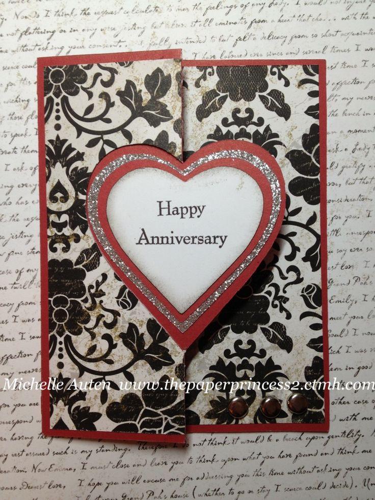 Anniversary card using Cricut Artiste cartridge.