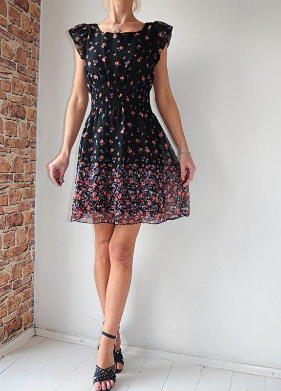 New Look Sukienka Czarna W Kwiatki 40 Vinted Dresses Dresses With Sleeves Fashion
