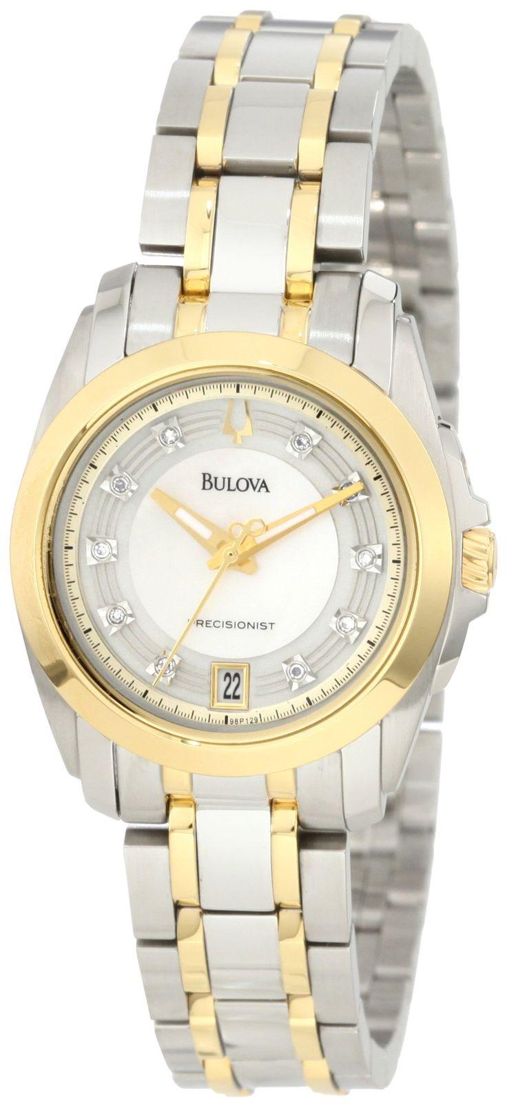 Bulova Women's 98P129 Precisionist Longwood Ion plated Watch