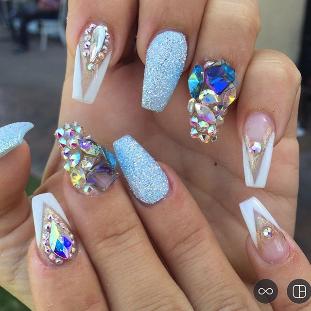 Jewels And Rings Coffin Nails