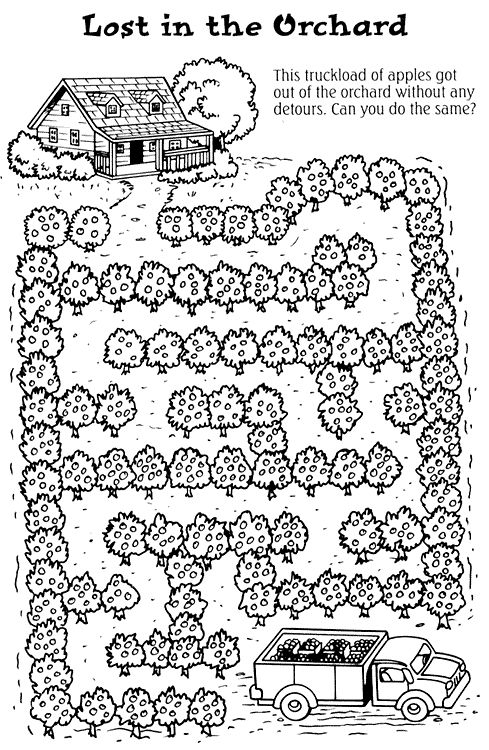 olivia apple orchard coloring pages - photo#25
