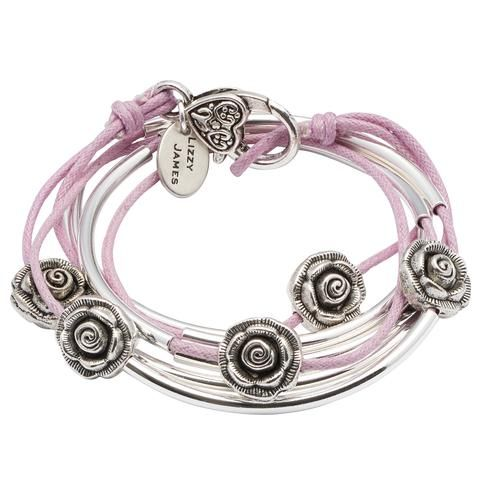 Rosie wrap bracelet in Lavender Cotton Cord, comes as shown