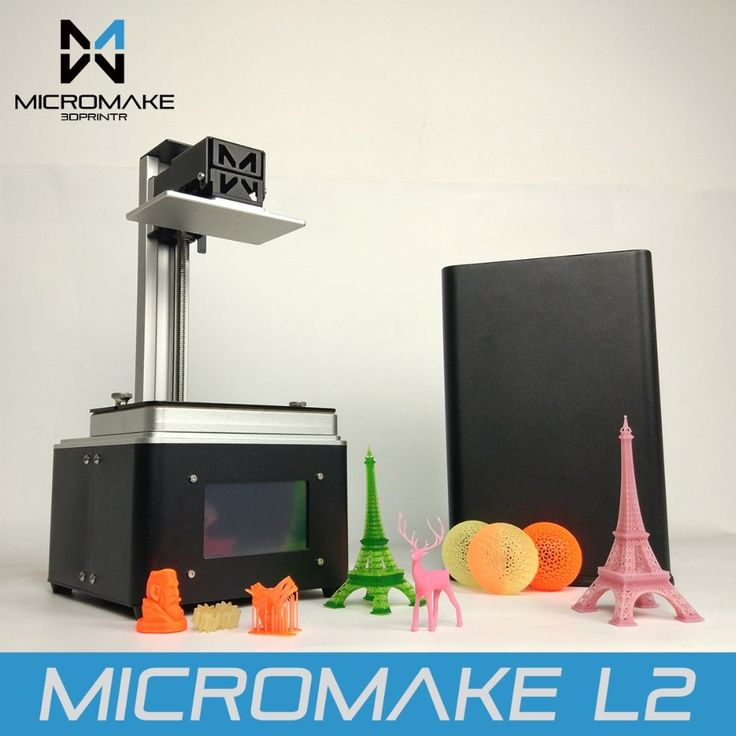 Micromake 2017 L2 UV Resin 3d printer SLA/DLP 3D Printer with touch screen LCD light-curing High Accuracy