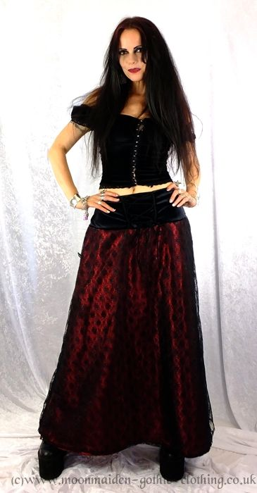 Darkfae Skirt by Moonmaiden Gothic Clothing UK