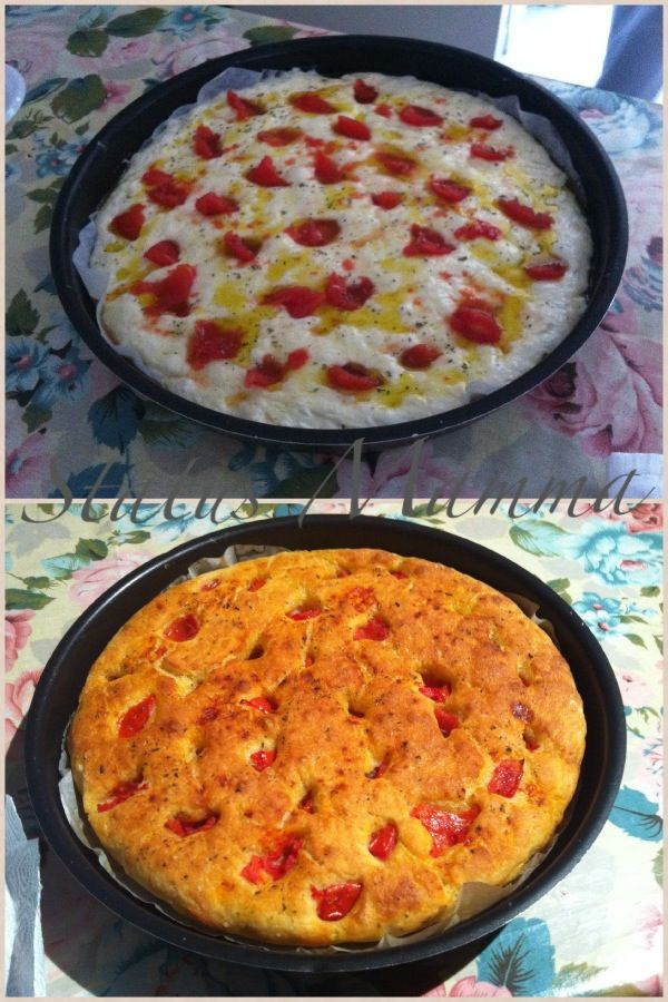 Focaccia di patate e pomodorini della nonna ricetta cucinare lievitati pane status mamma foto tutorial blog