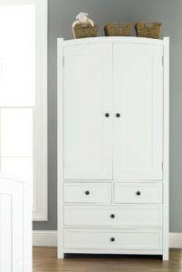 Large White Wardrobe With Drawers