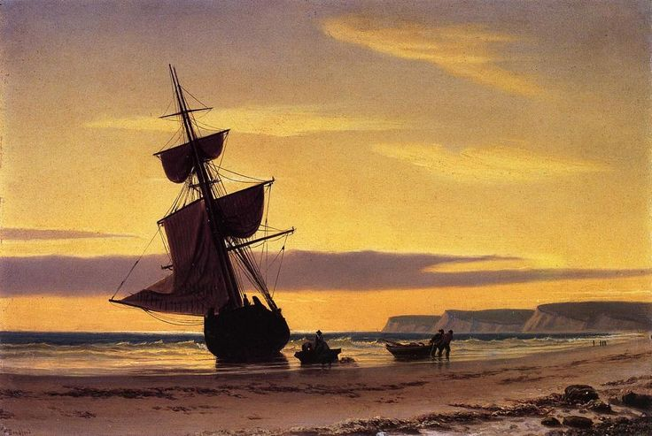 Coastal Scene, Oil On Panel by William Bradford (1590-1657, United Kingdom)