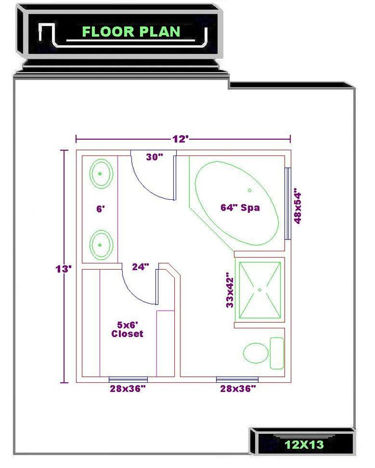 Free Bathroom Floor Plan Maker