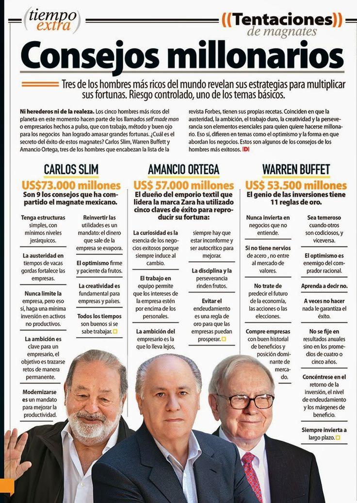 TRES MAGNATES MULTIMILLONARIOS REVELAN SUS SECRETOS PARA ALCANZAR EL ÉXITO