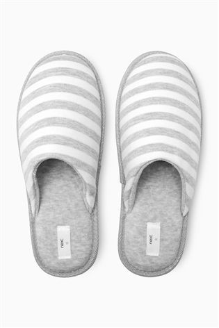 Buy Grey Jersey Mule Slippers from the Next UK online shop