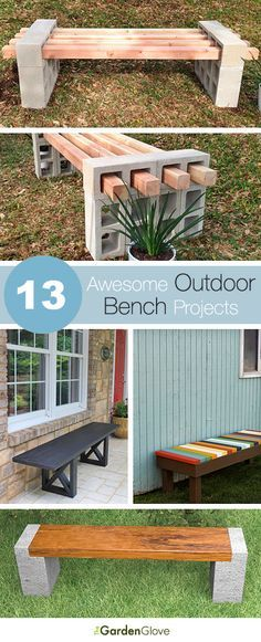 13 Awesome Outdoor Bench Projects, Ideas Tutorials! [ Wainscotingamerica.com ] #backyard #wainscoting #design
