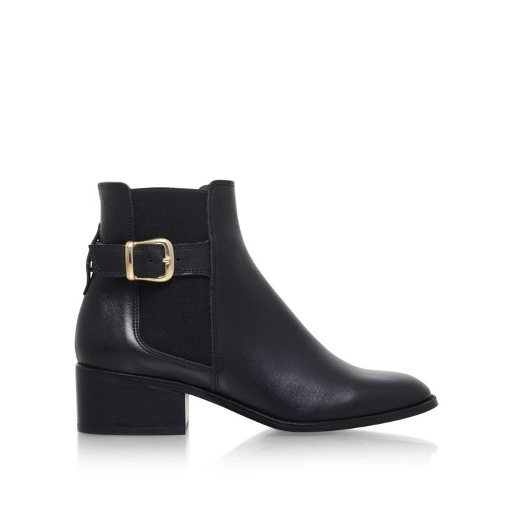 STORM Kurt Geiger London Storm Black Leather Ankle Boots by KURT GEIGER LONDON