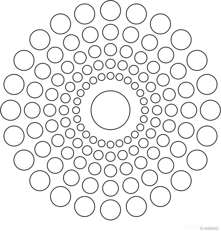Mandala of circles 15 degree
