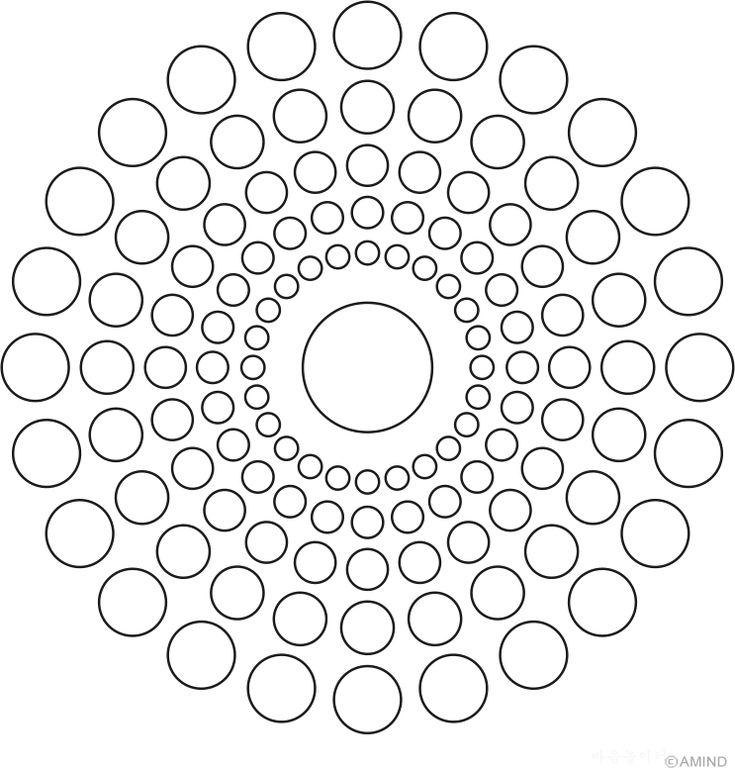 Mandala of circles 15 degree